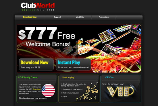Club World Casinos No Deposit Bonus Codes 50 Free Spins
