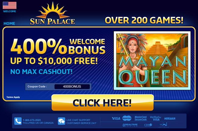 Sun Palace Casino Bonus Codes