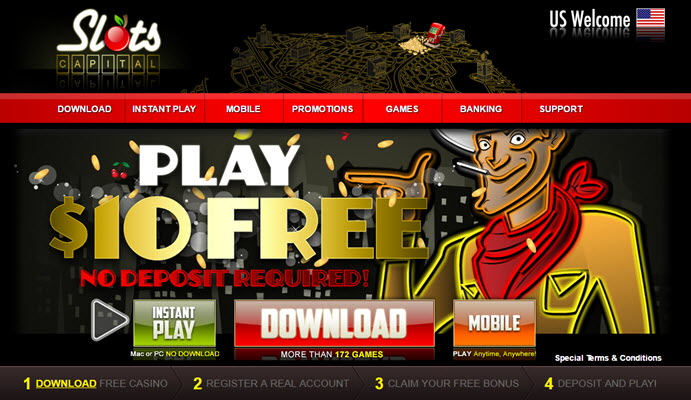 slots capital casino $10 free no deposit bonus